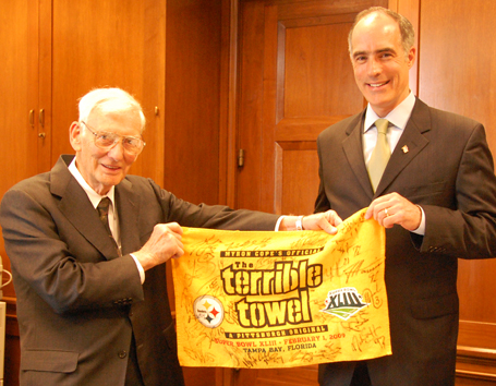 Dan Rooney and Senator Bob Casey