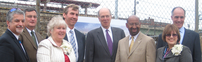 Senator Casey and Mayor Nutter with Project Partners, Developers and Investors