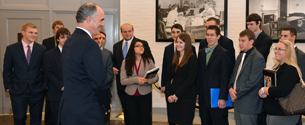 Casey Meets with Waynesburg University Students